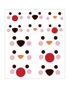 Stickers, polardyrs øyne, 15x16,5 cm, 1 ark
