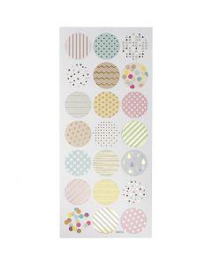 Stickers, pastell, 10x23 cm, 1 ark
