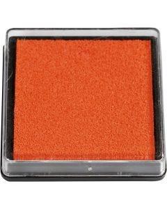 Stempelpute, str. 40x40 mm, orange, 1 stk.