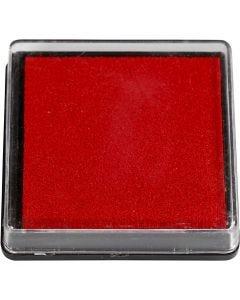 Stempelpute, str. 40x40 mm, rød, 1 stk.