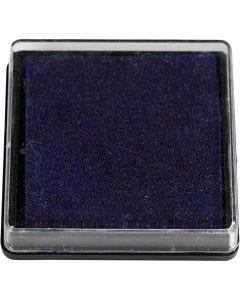 Stempelpute, str. 40x40 mm, mørk blå, 1 stk.