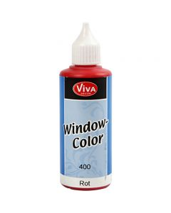 Window Color, rød, 80 ml/ 1 fl.