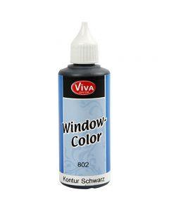 Window Color - konturfarge, svart, 80 ml/ 1 fl.