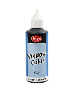 Window Color - konturfarge, svart, 80 ml/ 1 fl.