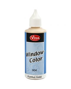 Window Color - konturfarge, gull, 80 ml/ 1 fl.