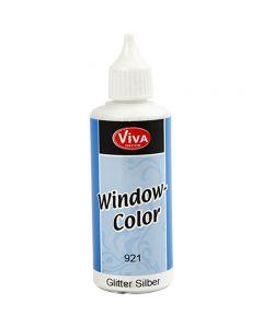 Window Color, sølvglitter, 80 ml/ 1 fl.