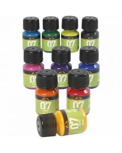 A-Color Glass, ass. farger, 10x30 ml/ 1 pk.