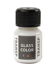 Glass Color Transparent, hvit, 30 ml/ 1 fl.