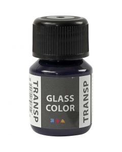 Glass Color Transparent, marineblå, 30 ml/ 1 fl.