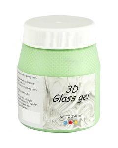 3D Glass gel, grønn, 250 ml/ 1 boks