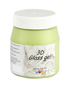 3D Glass gel, lys grønn, 250 ml/ 1 boks