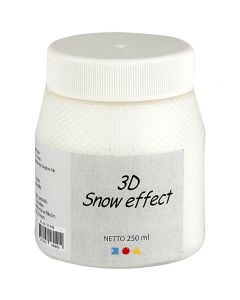 3D Snow effekt, hvit, 250 ml/ 1 boks