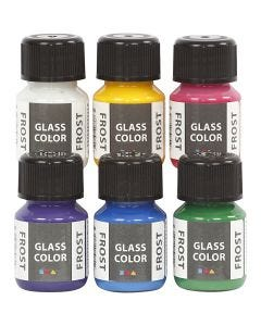 Glass Color Frost, ass. farger, 6x30 ml/ 1 pk.