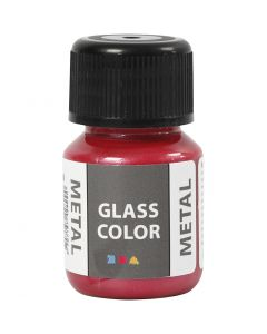 Glass Color Metal, rød, 30 ml/ 1 fl.