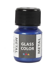 Glass Color Metal, blå, 30 ml/ 1 fl.