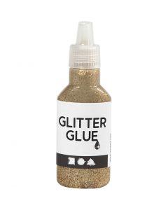 Glitterlim, gull, 25 ml/ 1 fl.