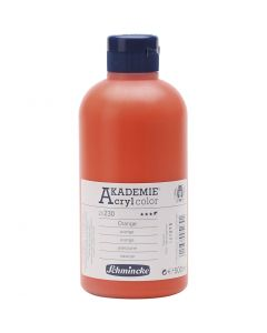 Schmincke AKADEMIE® Akryl farge, semi transparent, orange (230), 500 ml/ 1 fl.
