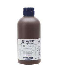 Schmincke AKADEMIE® Akryl farge, dekkende, burnt umber (669), 500 ml/ 1 fl.