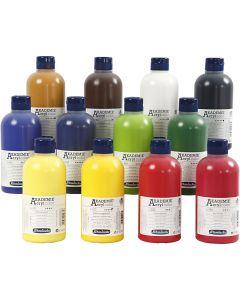 Schmincke AKADEMIE® Akryl farge, 12x500 ml/ 1 pk.
