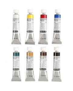 Schmincke AKADEMIE® Akrylmaling, 8x20 ml/ 1 pk.
