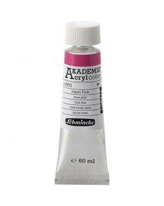 Schmincke AKADEMIE® Akryl farge, neon pink (855), 60 ml/ 1 fl.