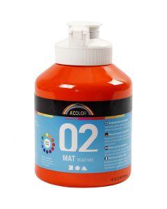 A-Color akrylmaling, matt, orange, 500 ml/ 1 fl.