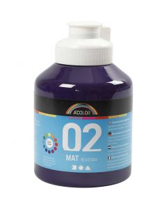 A-Color akrylmaling, matt, violet, 500 ml/ 1 fl.
