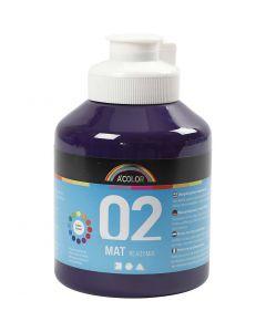 A-Color akrylmaling, nr. 02, matt, violet, 500 ml/ 1 fl.