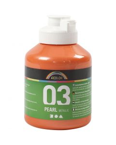 A-Color akrylmaling, metallisk, orange, 500 ml/ 1 fl.