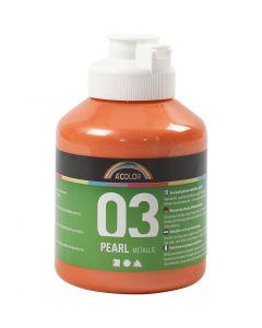 A-Color akrylmaling, nr. 03, metallisk, orange, 500 ml/ 1 fl.