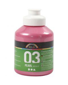 A-Color akrylmaling, nr. 03, metallisk, lys rød, 500 ml/ 1 fl.