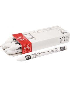 Neocolor I, L: 10 cm, tykkelse 8 mm, white (001), 10 stk./ 1 pk.