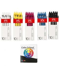 Neocolor II, L: 10 cm, 5x10 stk./ 1 pk.