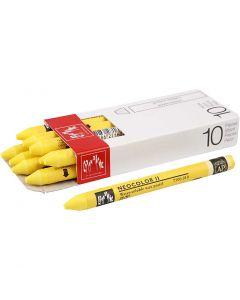Neocolor II, L: 10 cm, yellow (010), 10 stk./ 1 pk.