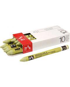 Neocolor II, L: 10 cm, light olive (245), 10 stk./ 1 pk.