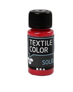 Textil Solid, dekkende, rød, 50 ml/ 1 fl.