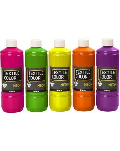 Textil Color, ass. farger, 5x500 ml/ 1 pk.