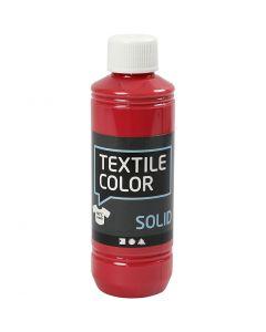Textil Solid, dekkende, rød, 250 ml/ 1 fl.