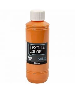 Textil Solid, dekkende, orange, 250 ml/ 1 fl.