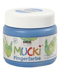 Fingermaling, blå, 150 ml/ 1 boks