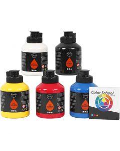 Pigment Art School, primær farger, 5x500 ml/ 1 pk.