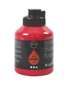 Pigment Art School, semi transparent, primær rød, 500 ml/ 1 fl.