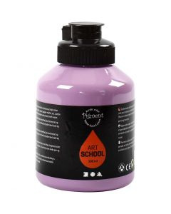 Pigment Art School, dekkende, lilla, 500 ml/ 1 fl.