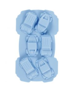 Silikonformer, biler, hullstr. 30x45 mm, 12,5 ml, lys blå, 1 stk.