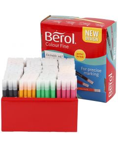 Berol Colourfine, strek 0,3-0,7 mm, ass. farger, 288 stk./ 1 pk.