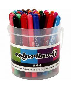 Colortime Tusj, strek 5 mm, ass. farger, 42 stk./ 1 pk.