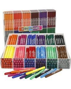 Colortime Tusj, strek 5 mm, ass. farger, 576 stk./ 1 pk.