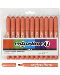 Colortime Tusj, strek 5 mm, mandarin, 12 stk./ 1 pk.