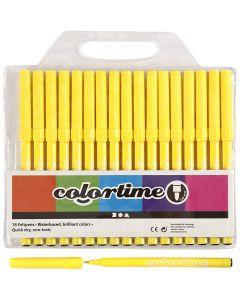 Colortime Tusj, strek 2 mm, sitron gul, 18 stk./ 1 pk.