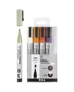 Kritt tusj, strek 1,2-3 mm, douche farger, 5 stk./ 1 pk.